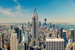 Manhattan aerial view Royalty Free Stock Photos