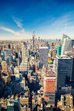 Manhattan aerial view Stock Photography