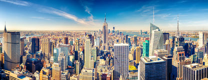 Manhattan aerial view. New York City Manhattan aerial view Stock Photos