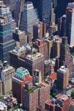 Manhattan aerial view Royalty Free Stock Photos