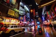 Manhattan alla notte Fotografie Stock Libere da Diritti