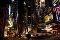 Manhattan alla notte Immagine Stock