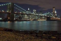 Manhattan And Brooklyn Bridge Stock Photos