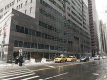 Manhattan-Ansicht in den Winter, NYC lizenzfreie abbildung