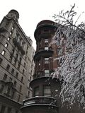 Manhattan-Ansicht in den Winter, NYC Lizenzfreie Stockfotografie