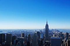 Manhattan-Ansicht von der Rockfeller Mitte Stockbild