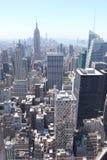Manhattan-Ansicht von der Spitze des stein- New York Stockfoto