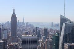 Manhattan-Ansicht von der Spitze des stein- New York Stockbild