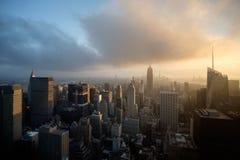 Manhattan-Ansicht von Rockeffeler-Mitte - Spitze des Felsens lizenzfreie stockfotografie