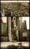Manhattan-Ansichten über grunge Lizenzfreie Stockbilder
