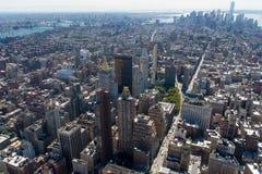 Manhattan antenn royaltyfria bilder