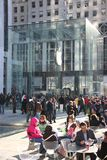Manhattan Apple store redisigned Stock Photography