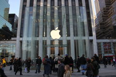 Manhattan Apple store redisigned Royalty Free Stock Images