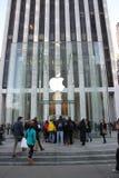 Manhattan Apple store redisigned Stock Photo