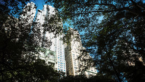 Manhattan architecture. View from St Pauls Churchyard. Stock Photography