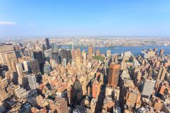 Manhattan as seen from the Empire State Building Royalty Free Stock Photo