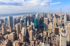 Manhattan as seen from the Empire State Building Stock Photos