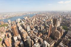 Manhattan as seen from the Empire State Building Royalty Free Stock Image