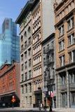 Manhattan, Bürogebäude Stockbilder