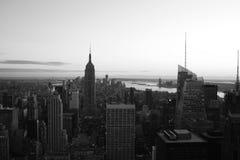 Manhattan B&W Arkivfoto