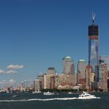 Manhattan Battery Park Skyline Stock Photography