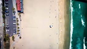 Manhattan Beach через трутня Стоковое Изображение