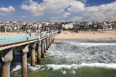 Manhattan Beach. View of Manhattan Beach from the pier Royalty Free Stock Image