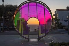 Light Gate at Manhattan Beach in California