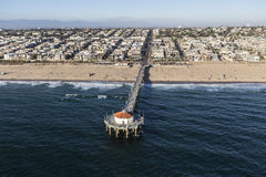 Manhattan Beach California Aerial Royalty Free Stock Photos