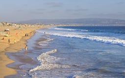 Manhattan Beach California, USA. Sunny afternoon at Manhattan Beach in Los Angeles, California, USA Royalty Free Stock Photo