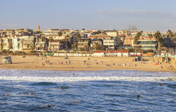 Manhattan Beach i eftermiddagen Kalifornien, USA Royaltyfri Fotografi