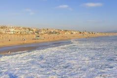 Manhattan Beach i sommareftermiddagen Kalifornien, USA Fotografering för Bildbyråer