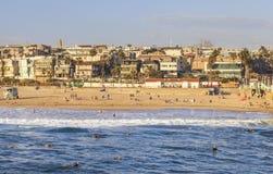 Manhattan Beach na tarde Califórnia, EUA fotografia de stock royalty free