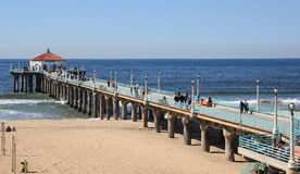 Manhattan Beach Pier. View of Manhattan Beach Pier Royalty Free Stock Photo