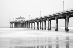 Manhattan beach pier Stock Image