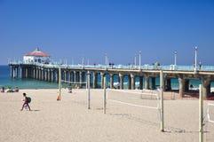Manhattan Beach Pier California Royaltyfria Foton