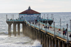 Manhattan Beach Pier, California Stock Photos
