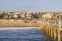 Manhattan Beach Pier, California, USA Stock Images
