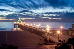 Manhattan Beach Pier at Christmas Stock Photography