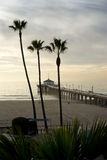 Manhattan Beach Pier Hazy Afternoon Royalty Free Stock Image