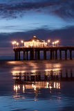 Manhattan Beach Pier After Nightfall Stock Photo
