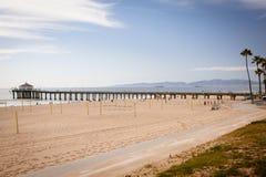Manhattan Beach pir Arkivfoton