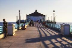 Manhattan Beach pir, Kalifornien, USA Arkivfoto