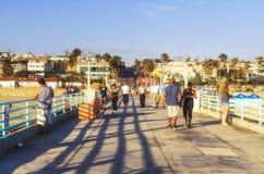 Manhattan Beach pir, Kalifornien, USA Arkivbild