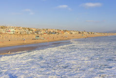 Manhattan Beach in summer afternoon California, USA Stock Image