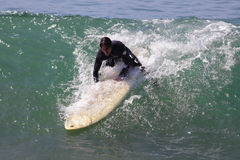 Manhattan Beach Surfing Stock Photography