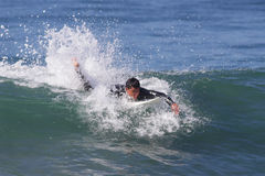 Manhattan Beach Surfing. MANHATTAN BEACH, CALIFORNIA, USA - SEPTEMBER 28, 2012. Surfers enjoy large waves on September 28, 2012.  Large waves are caused by the Stock Images