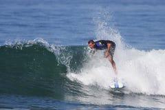 Manhattan Beach Surfing. EL PORTO, MANHATTAN BEACH, CALIFORNIA, USA - OCTOBER 1. Surfers enjoy large waves on October 1, 2012. El Porto is a popular beach with Stock Images