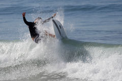 Manhattan Beach Surfing Stock Image