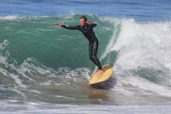 Manhattan Beach Surfing Stock Photos